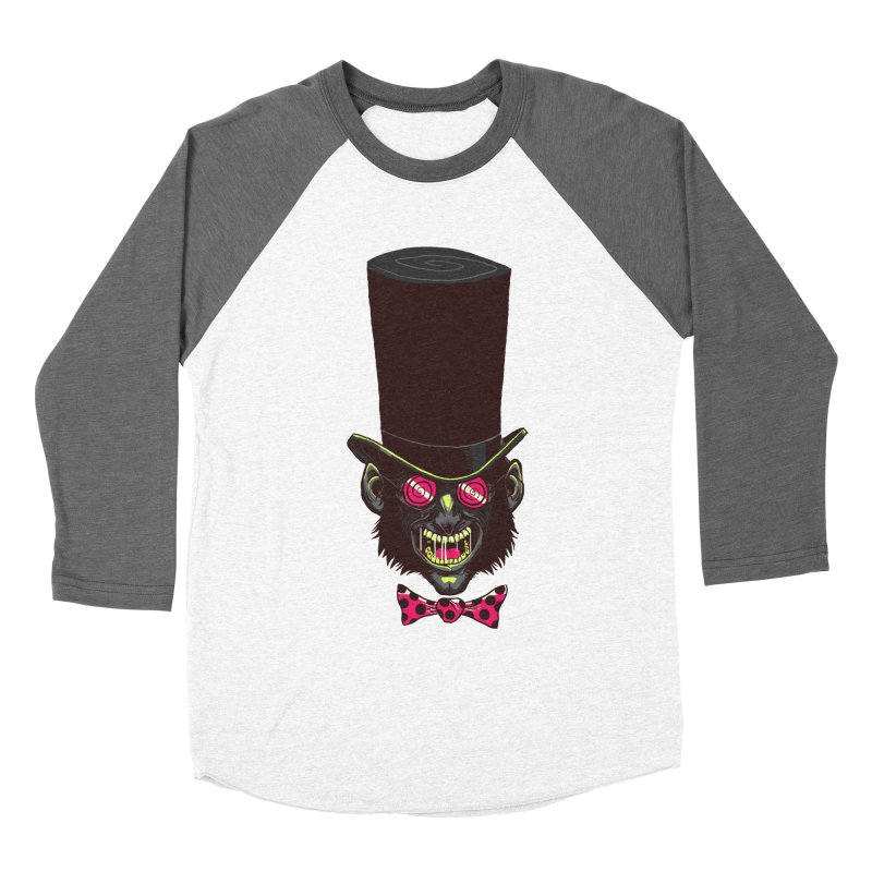 Mad Hatter Men's Baseball Triblend T-Shirt by Drawsgood Illustration and Design
