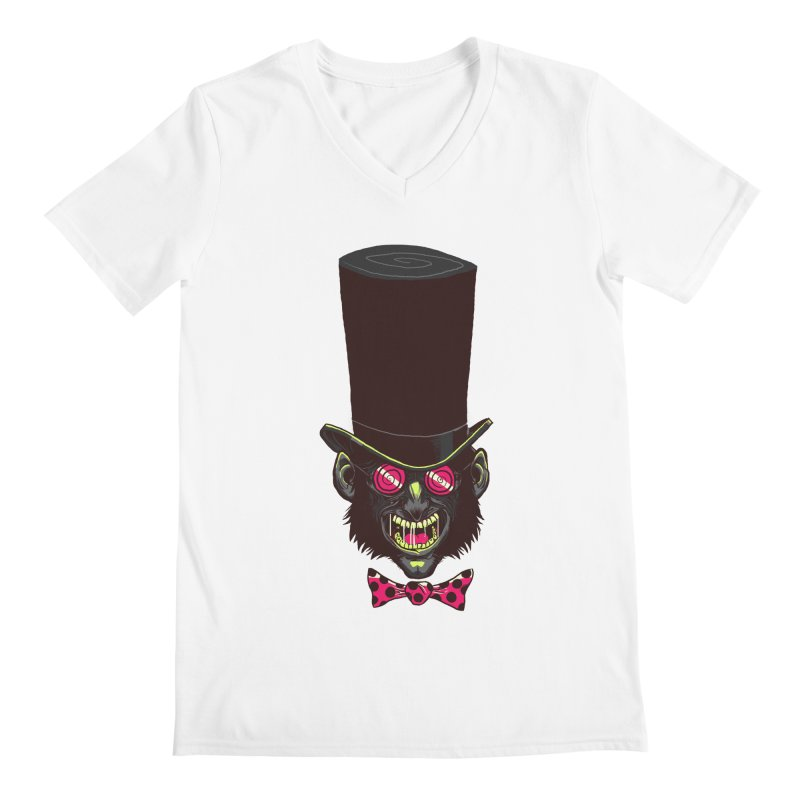 Mad Hatter Men's V-Neck by Drawsgood Illustration and Design