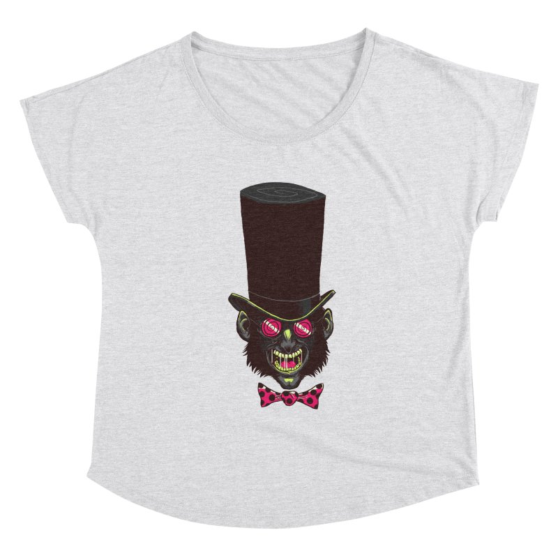 Mad Hatter Women's Dolman Scoop Neck by Drawsgood Illustration and Design