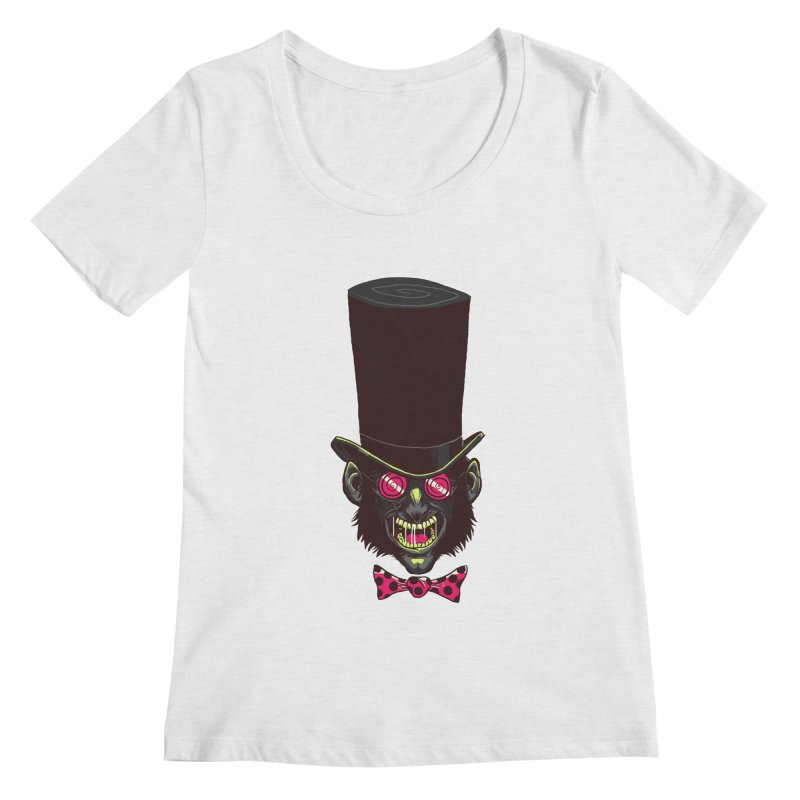 Mad Hatter Women's Scoopneck by Drawsgood Illustration and Design