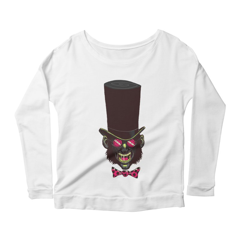 Mad Hatter Women's Longsleeve Scoopneck  by Drawsgood Illustration and Design