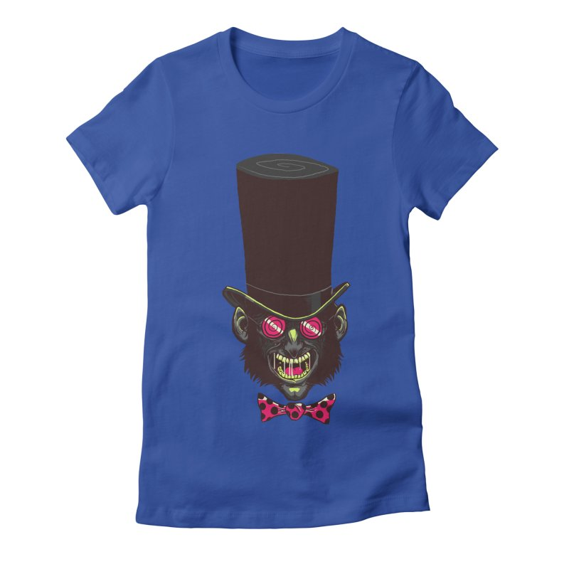Mad Hatter Women's Fitted T-Shirt by Drawsgood Illustration and Design