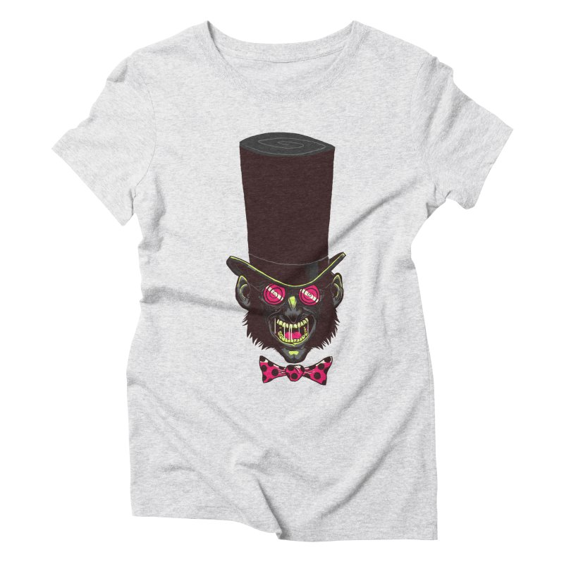 Mad Hatter Women's Triblend T-Shirt by Drawsgood Illustration and Design