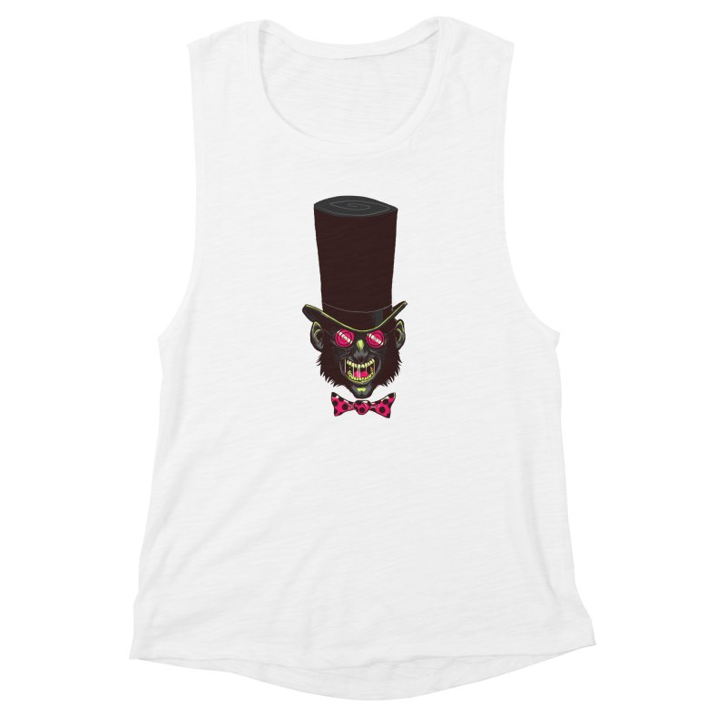 Mad Hatter Women's Muscle Tank by Drawsgood Illustration and Design