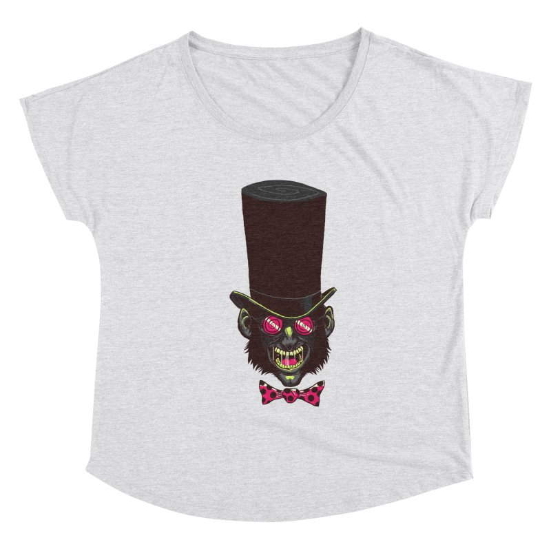 Mad Hatter Women's Scoop Neck by Drawsgood Illustration and Design