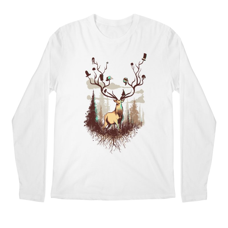 A Rustic Hat Rack Men's Regular Longsleeve T-Shirt by Drawsgood Illustration and Design