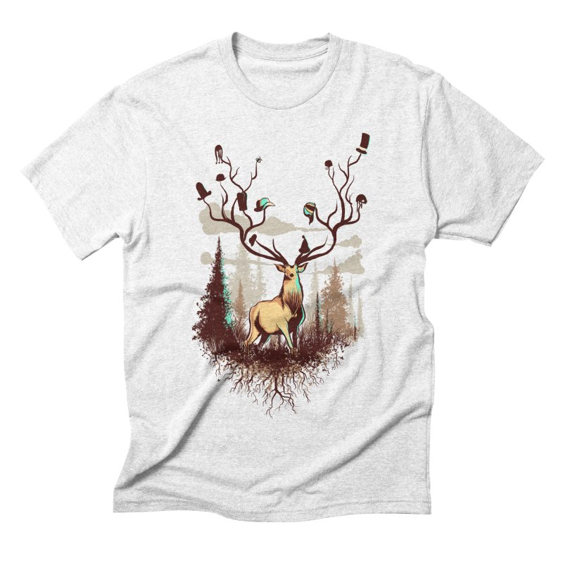 A Rustic Hat Rack Men's Triblend T-shirt by Drawsgood Illustration and Design