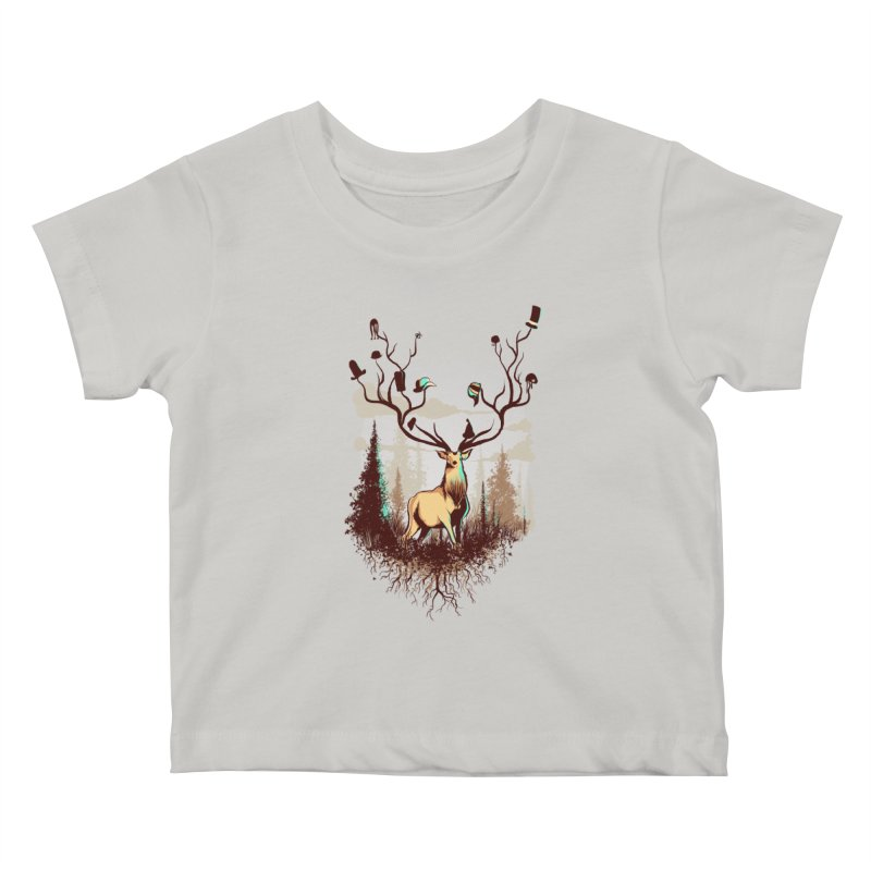 A Rustic Hat Rack Kids Baby T-Shirt by Drawsgood Illustration and Design