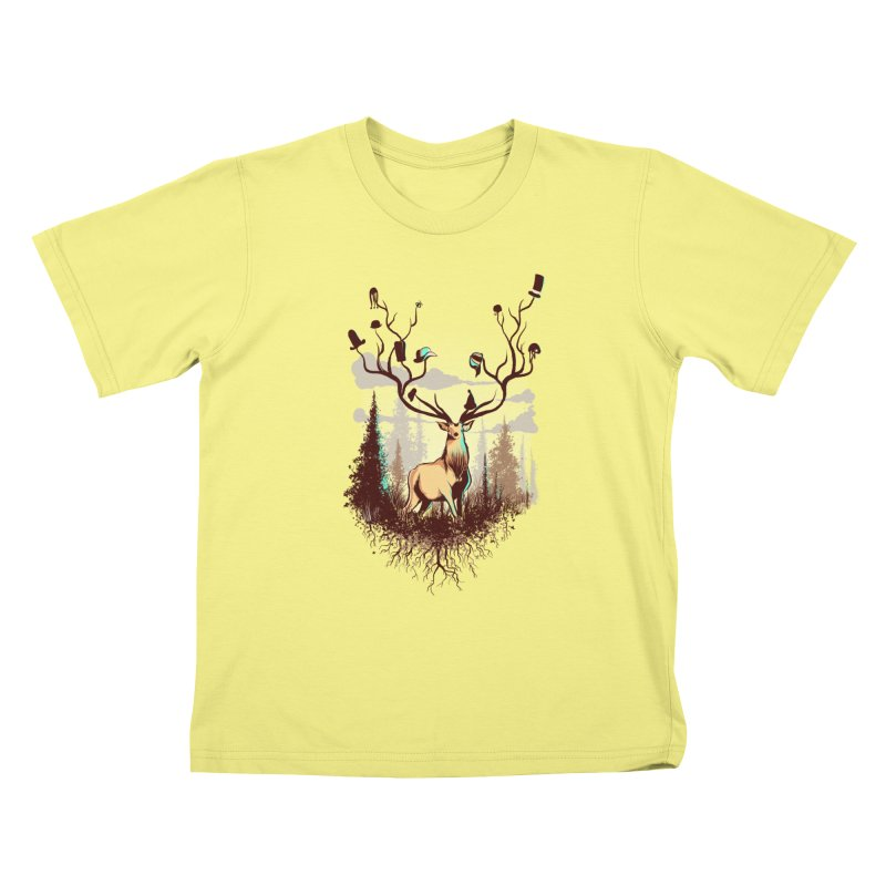 A Rustic Hat Rack Kids T-shirt by Drawsgood Illustration and Design
