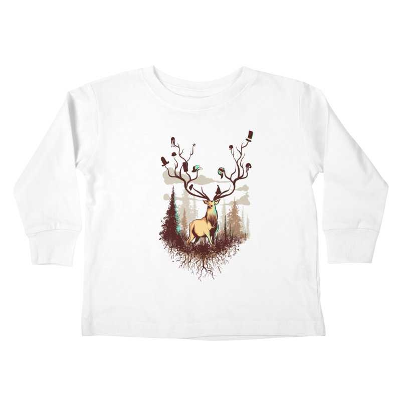 A Rustic Hat Rack Kids Toddler Longsleeve T-Shirt by Drawsgood Illustration and Design