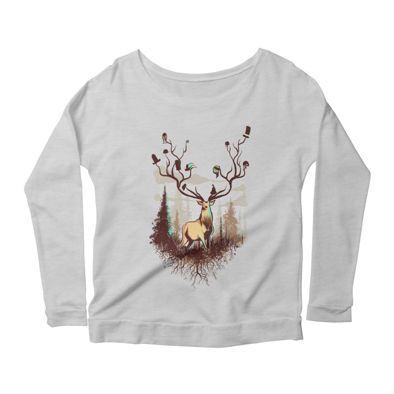 A Rustic Hat Rack Women's Longsleeve Scoopneck  by Drawsgood Illustration and Design