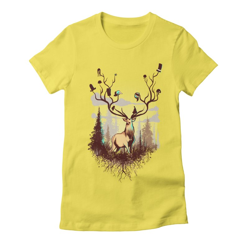 A Rustic Hat Rack Women's T-Shirt by Drawsgood Illustration and Design