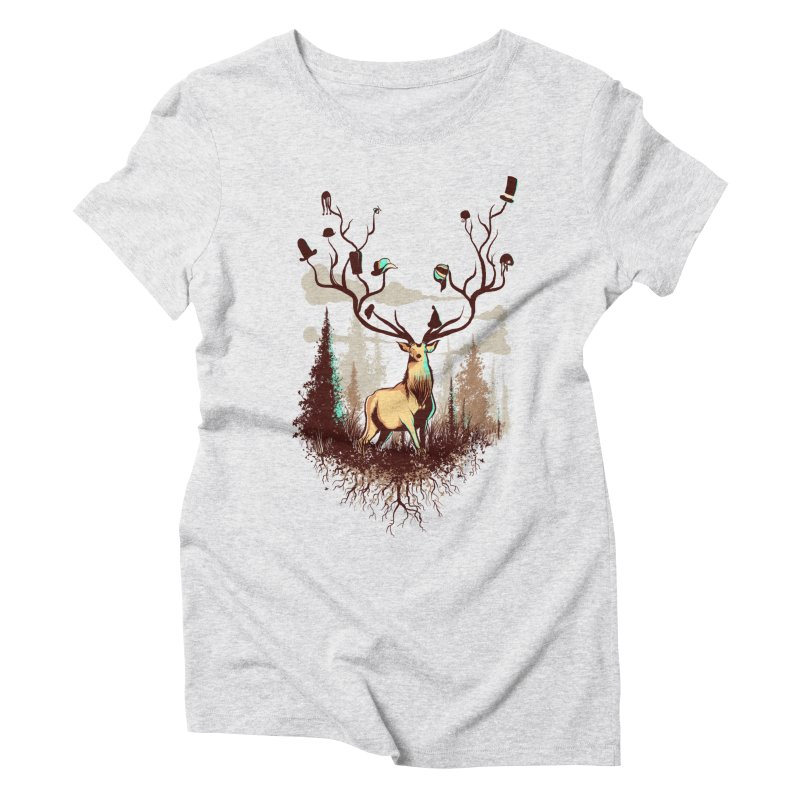 A Rustic Hat Rack Women's Triblend T-Shirt by Drawsgood Illustration and Design
