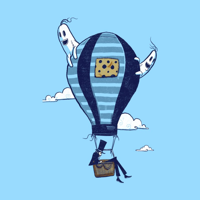 Hot Air Balloon Kids T-Shirt by Drawsgood Illustration and Design