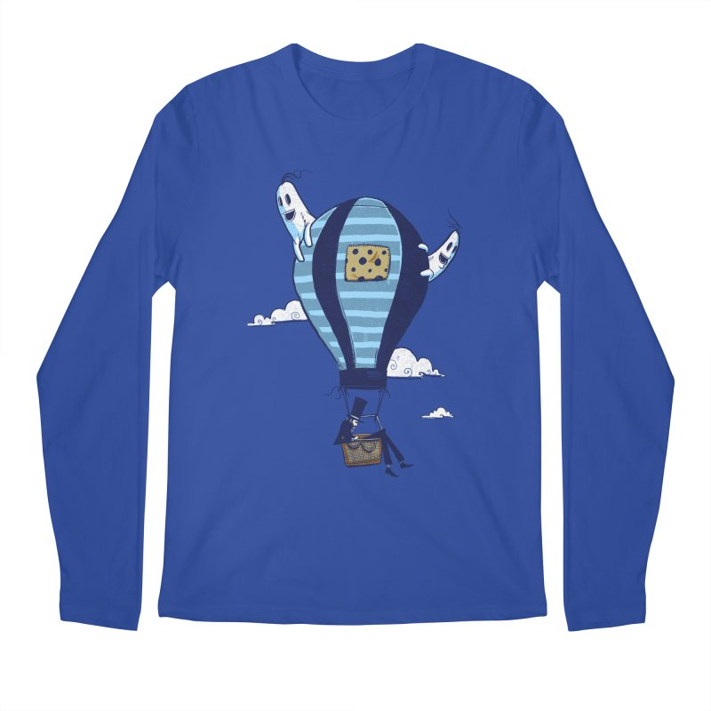 Hot Air Balloon Men's Longsleeve T-Shirt by Drawsgood Illustration and Design