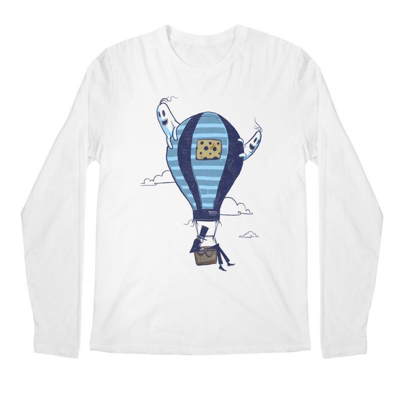 Hot Air Balloon Men's Longsleeve T-Shirt by Drawsgood Illustration and Design