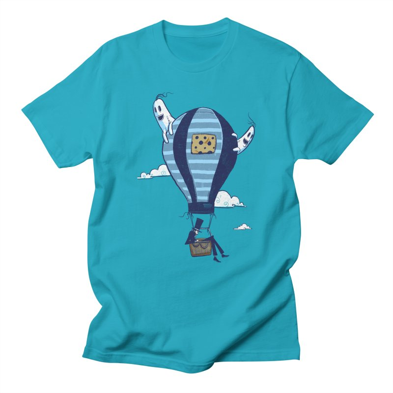 Hot Air Balloon Men's T-Shirt by Drawsgood Illustration and Design