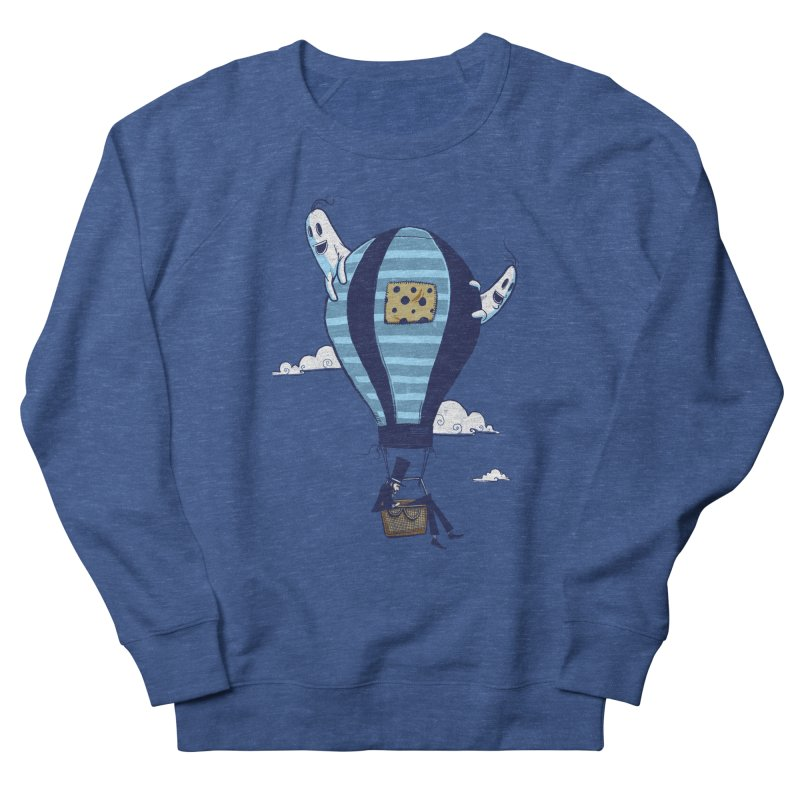 Hot Air Balloon Men's French Terry Sweatshirt by Drawsgood Illustration and Design