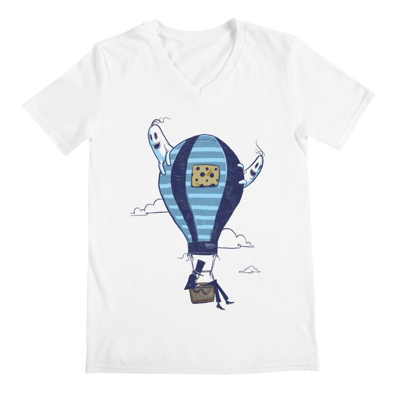Hot Air Balloon Men's V-Neck by Drawsgood Illustration and Design