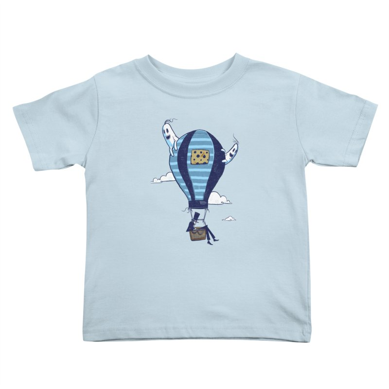 Hot Air Balloon Kids Toddler T-Shirt by Drawsgood Illustration and Design