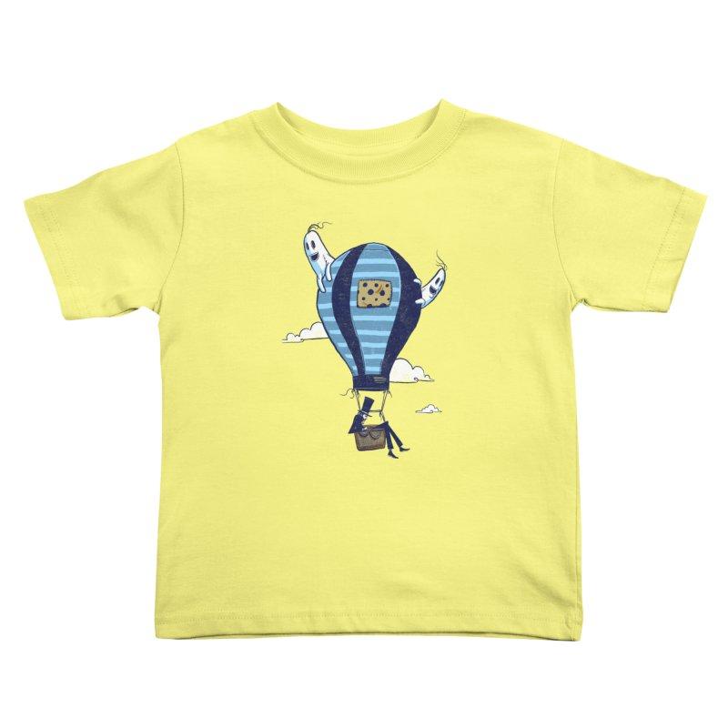 Hot Air Balloon Kids Toddler T-Shirt by Drawsgood Illustration and Design
