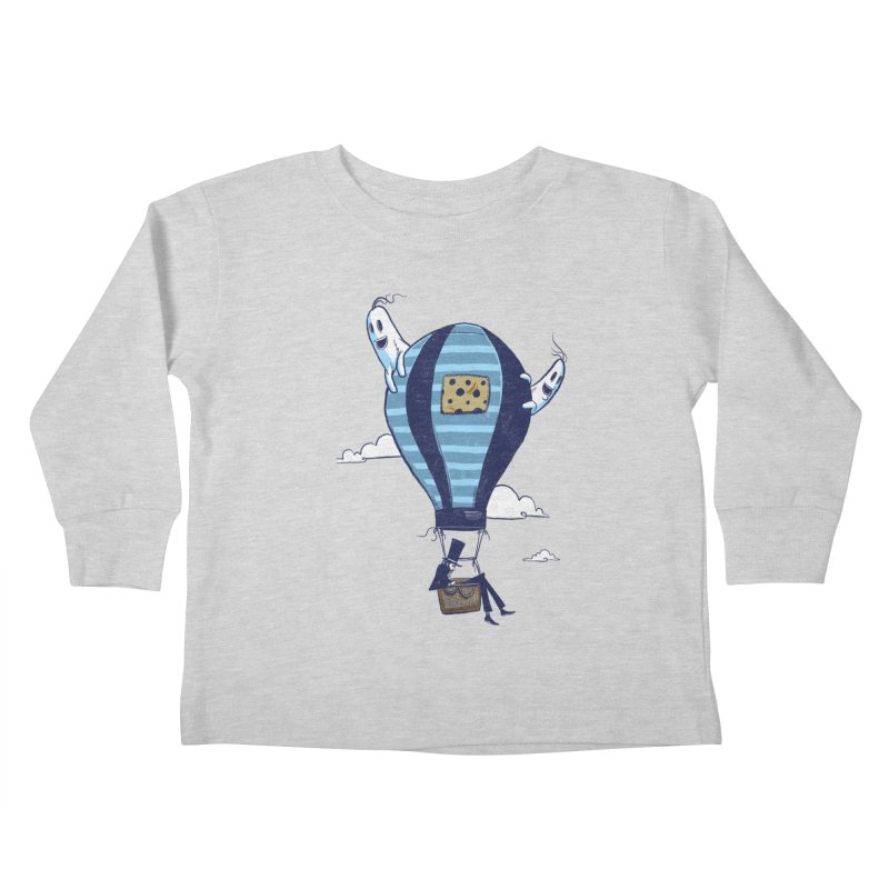 Hot Air Balloon Kids Toddler Longsleeve T-Shirt by Drawsgood Illustration and Design
