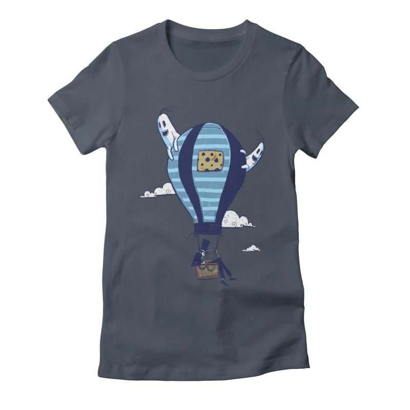 Hot Air Balloon Women's Fitted T-Shirt by Drawsgood Illustration and Design