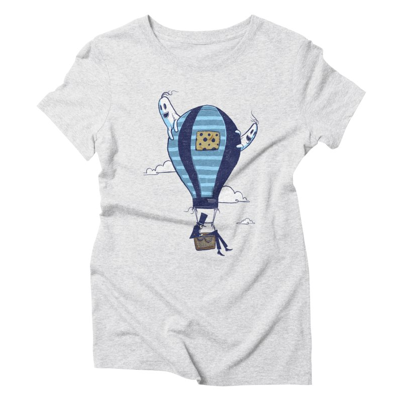Hot Air Balloon Women's Triblend T-Shirt by Drawsgood Illustration and Design