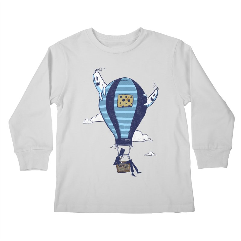 Hot Air Balloon Kids Longsleeve T-Shirt by Drawsgood Illustration and Design