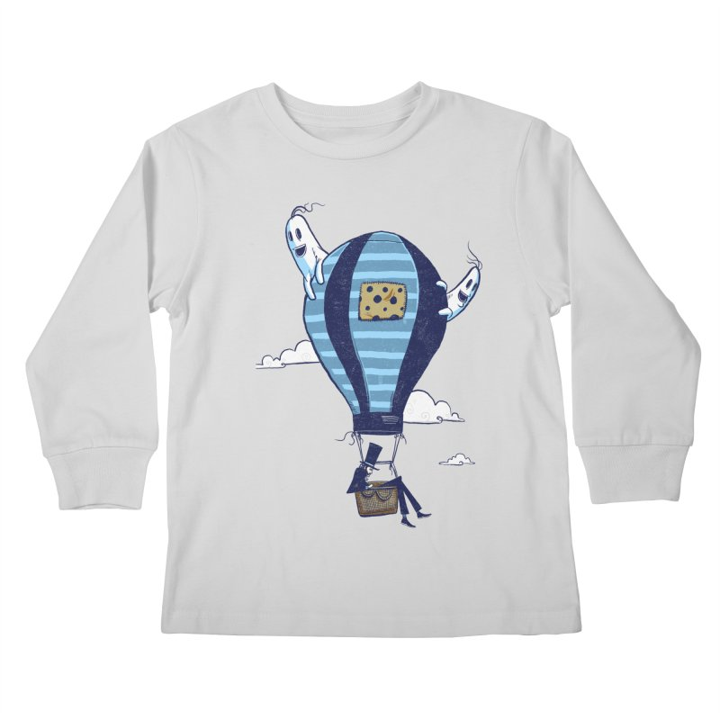 Hot Air Balloon Kids Longsleeve T-Shirt by Drawsgood Illustration and Design