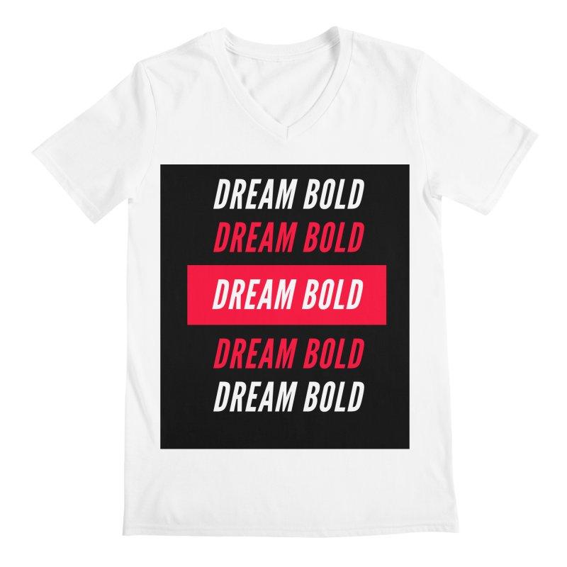 Go Bold! Men's V-Neck by Dream BOLD Network Shop