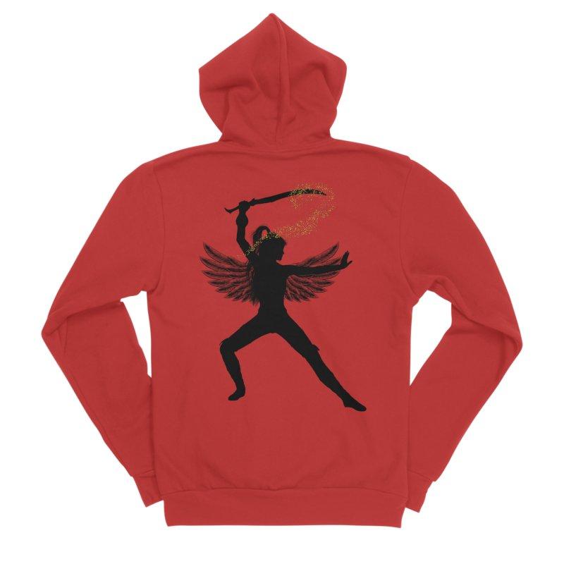 Female Warrior Men's Zip-Up Hoody by Dream BOLD Network Shop