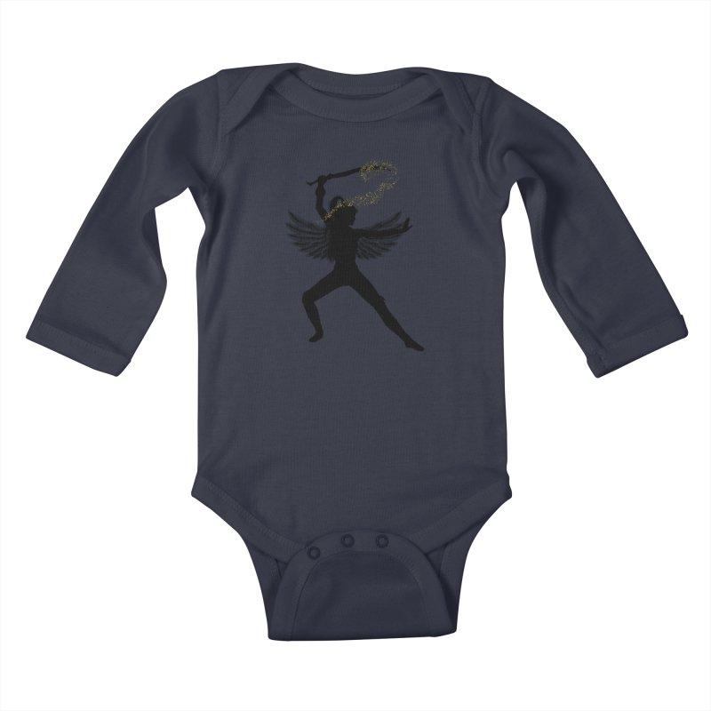 Female Warrior Kids Baby Longsleeve Bodysuit by Dream BOLD Network Shop