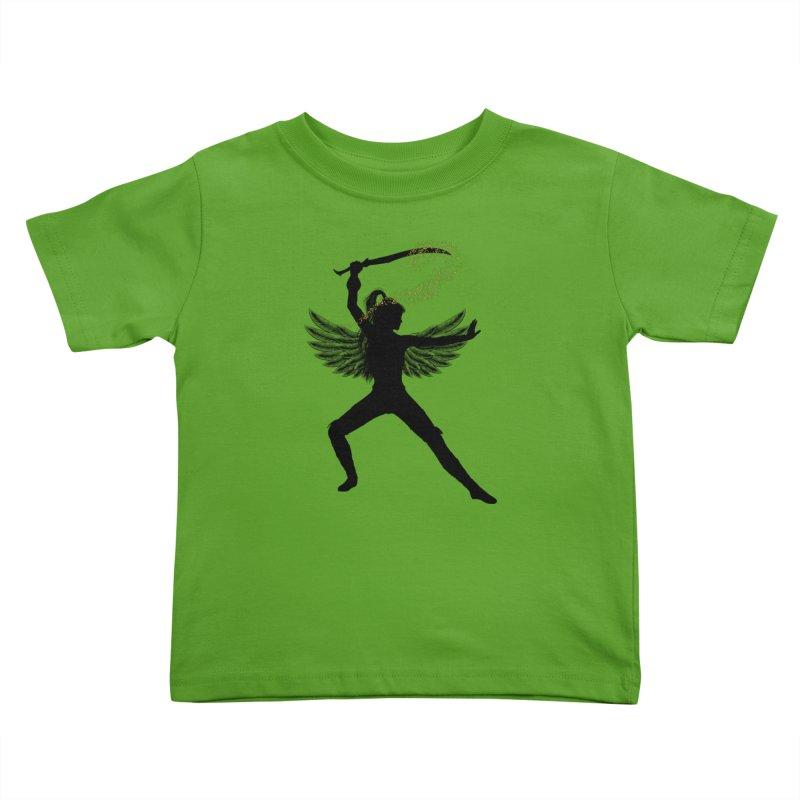 Female Warrior Kids Toddler T-Shirt by Dream BOLD Network Shop