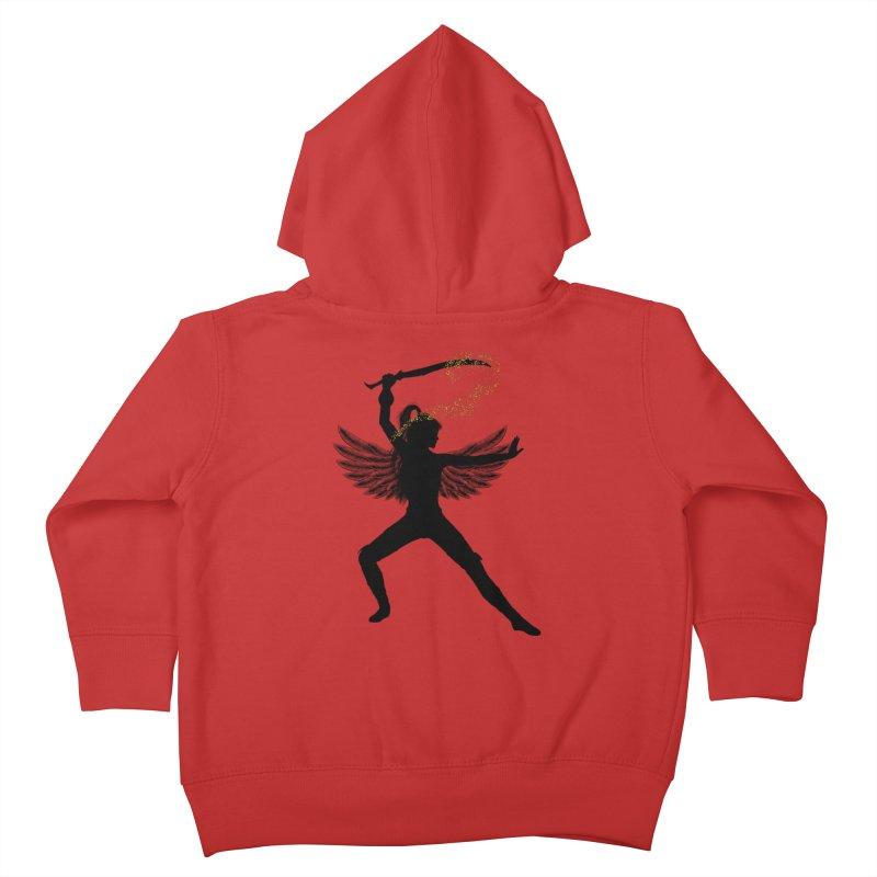 Female Warrior Kids Toddler Zip-Up Hoody by Dream BOLD Network Shop