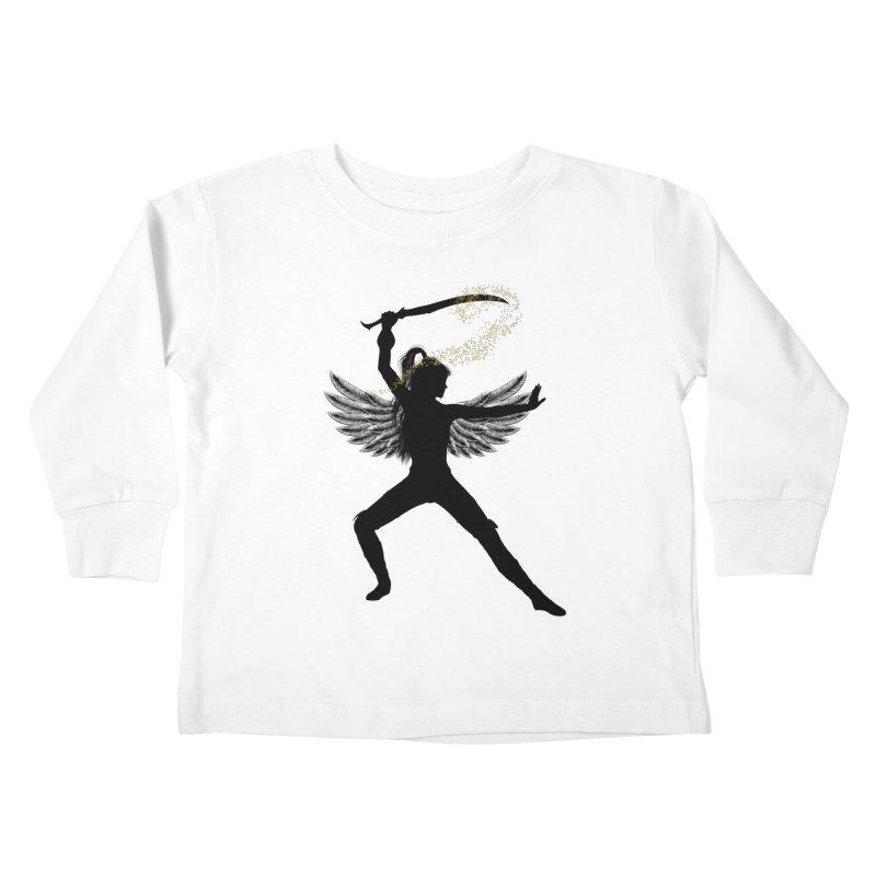 Female Warrior Kids Toddler Longsleeve T-Shirt by Dream BOLD Network Shop