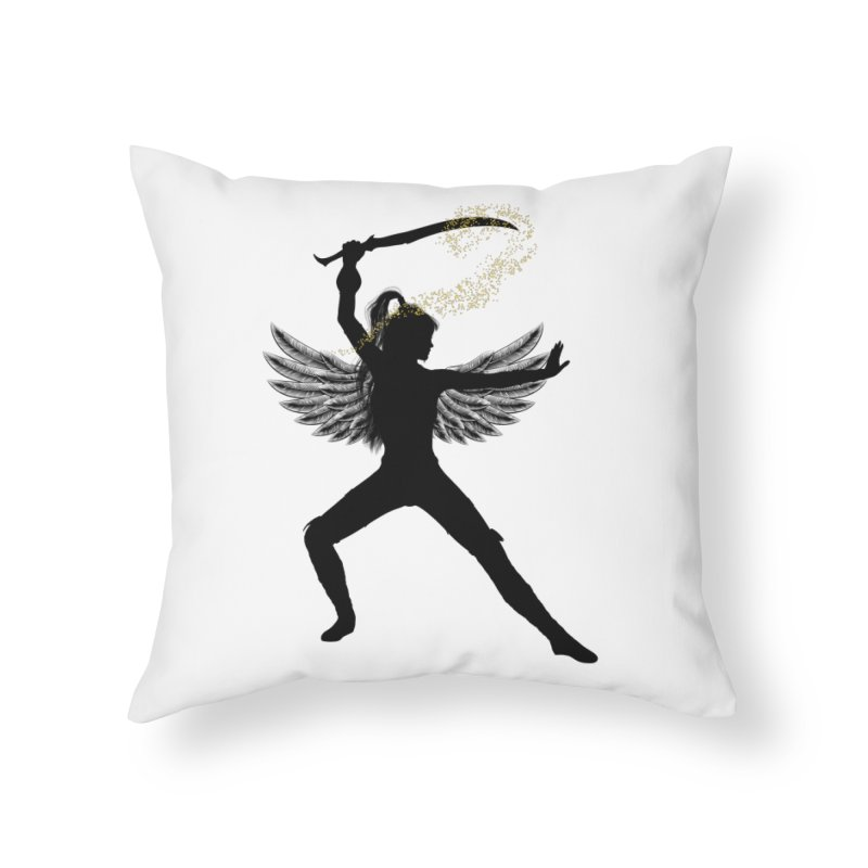Female Warrior Home Throw Pillow by Dream BOLD Network Shop
