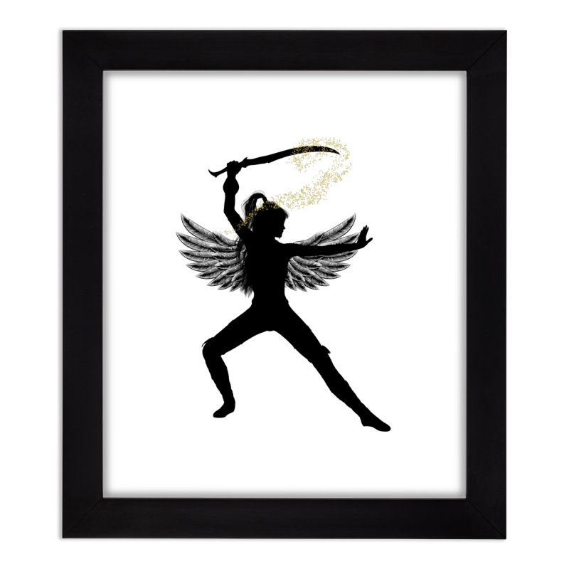 Female Warrior Home Framed Fine Art Print by Dream BOLD Network Shop