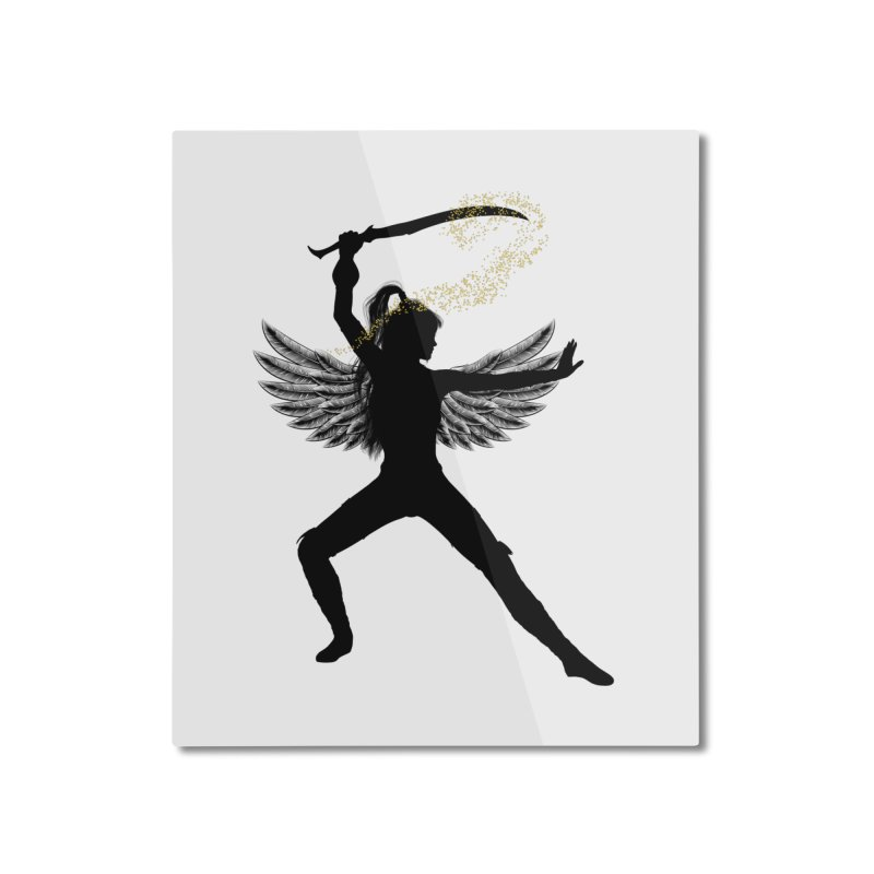 Female Warrior Home Mounted Aluminum Print by Dream BOLD Network Shop