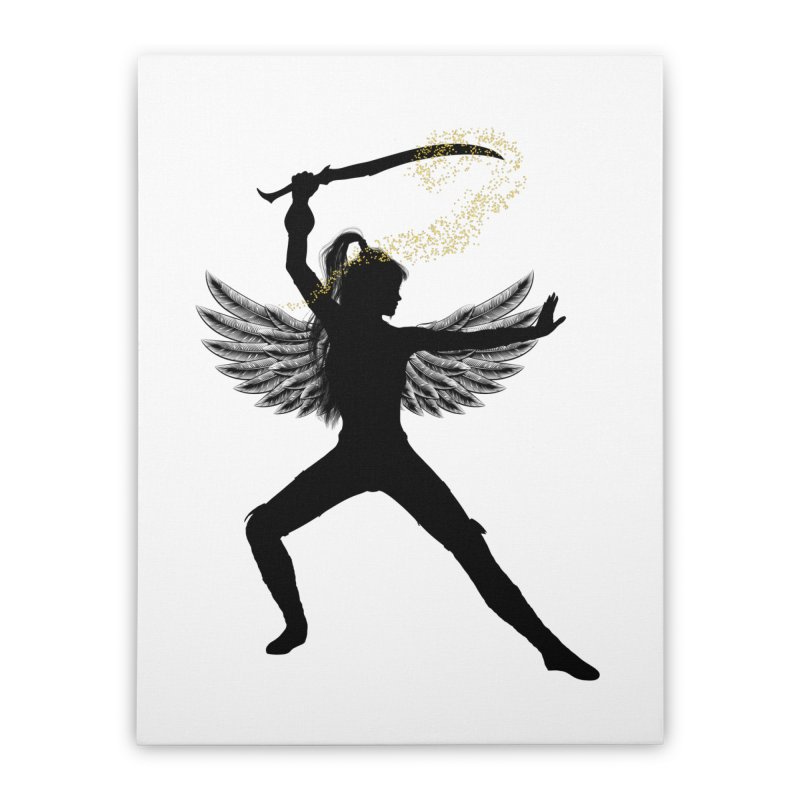 Female Warrior Home Stretched Canvas by Dream BOLD Network Shop