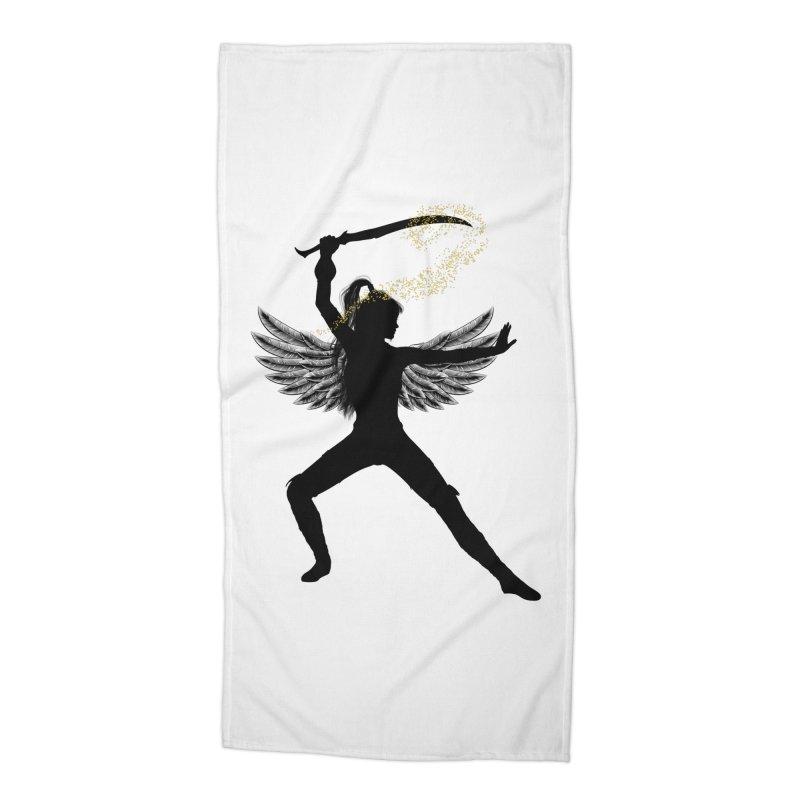 Female Warrior Accessories Beach Towel by Dream BOLD Network Shop