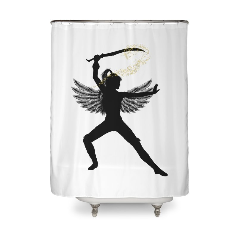 Female Warrior Home Shower Curtain by Dream BOLD Network Shop
