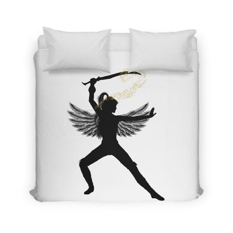 Female Warrior Home Duvet by Dream BOLD Network Shop