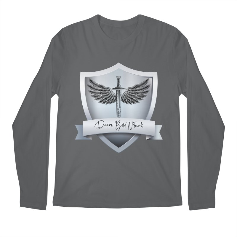 Dream Bold Shield Men's Longsleeve T-Shirt by Dream BOLD Network Shop