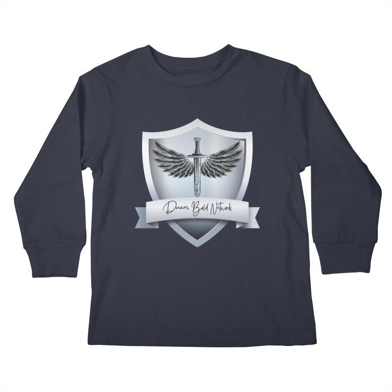 Dream Bold Shield Kids Longsleeve T-Shirt by Dream BOLD Network Shop
