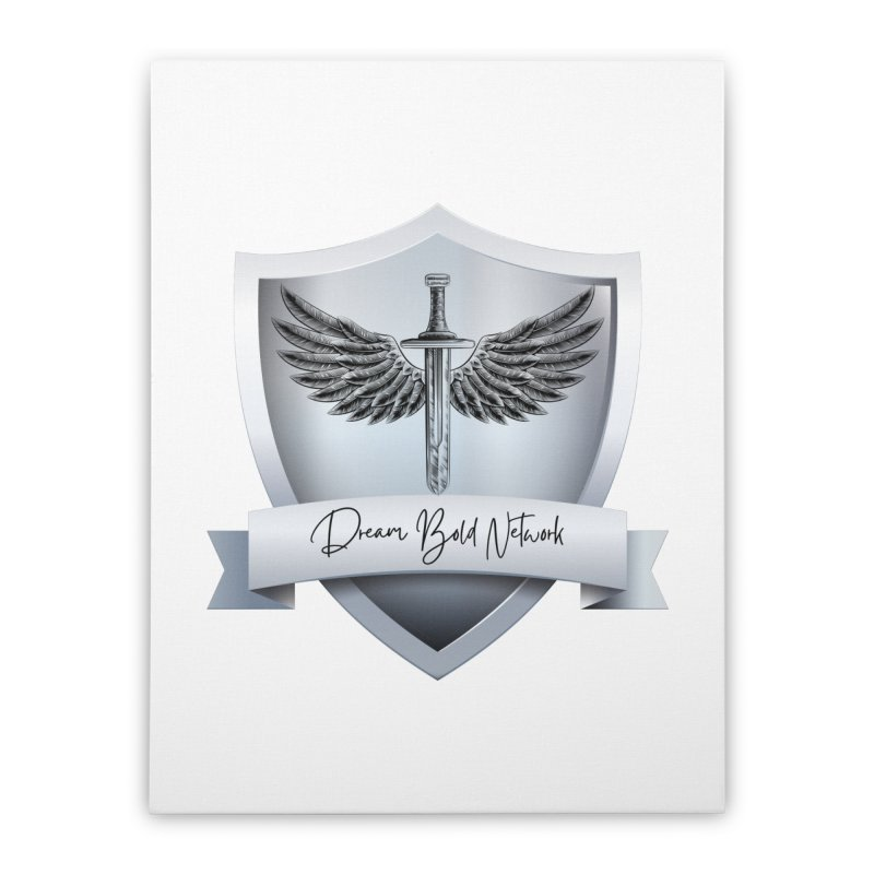 Dream Bold Shield Home Stretched Canvas by Dream BOLD Network Shop