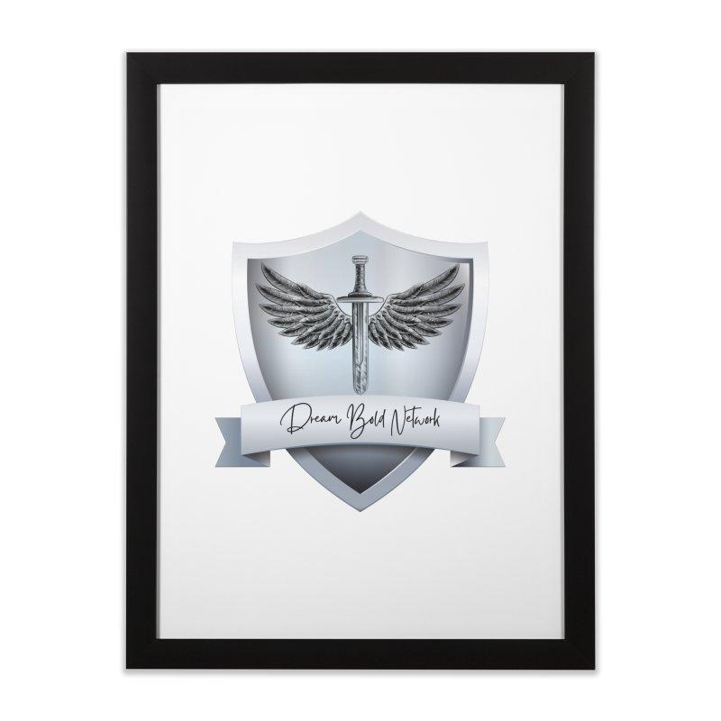 Dream Bold Shield Home Framed Fine Art Print by Dream BOLD Network Shop