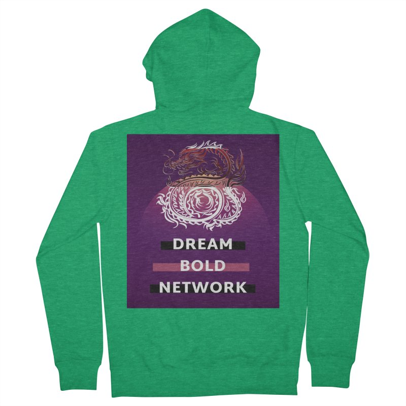 Dream Bold Dragon Men's Zip-Up Hoody by Dream BOLD Network Shop