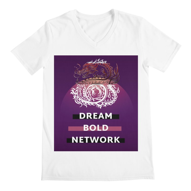 Dream Bold Dragon Men's V-Neck by Dream BOLD Network Shop