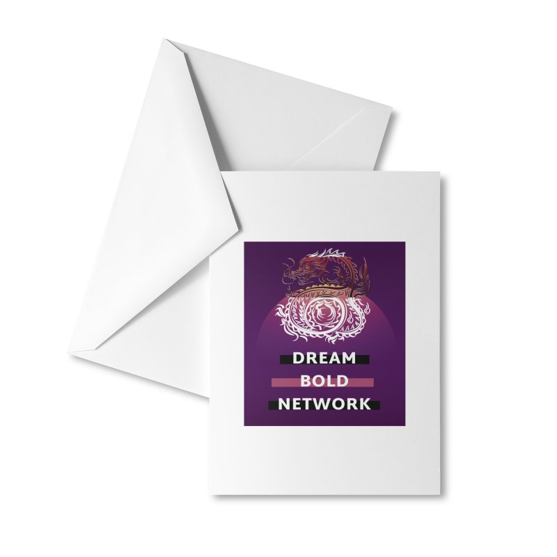 Dream Bold Dragon Accessories Greeting Card by Dream BOLD Network Shop